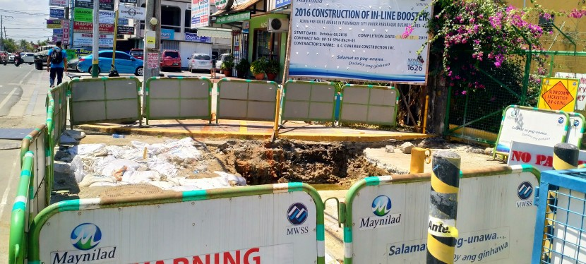 My Observations: Maynilad's In-Line Booster Project-Related Digging Along Presidents Avenue, BF Homes,Parañaque