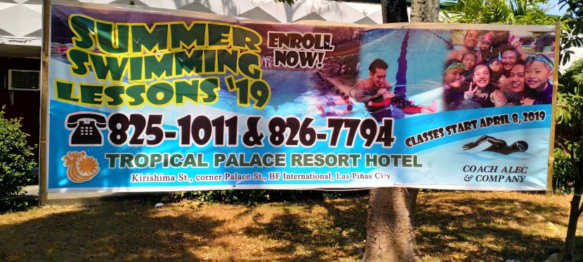 My Observations: Summer Swimming Lessons in BF International to begin on April 8