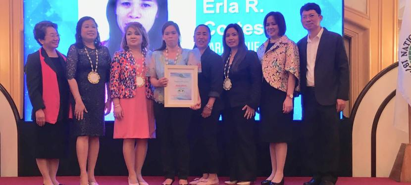 Barangay BF Homes' Erla Cortesta Recognized as an Outstanding Nutrition Scholar in NCR