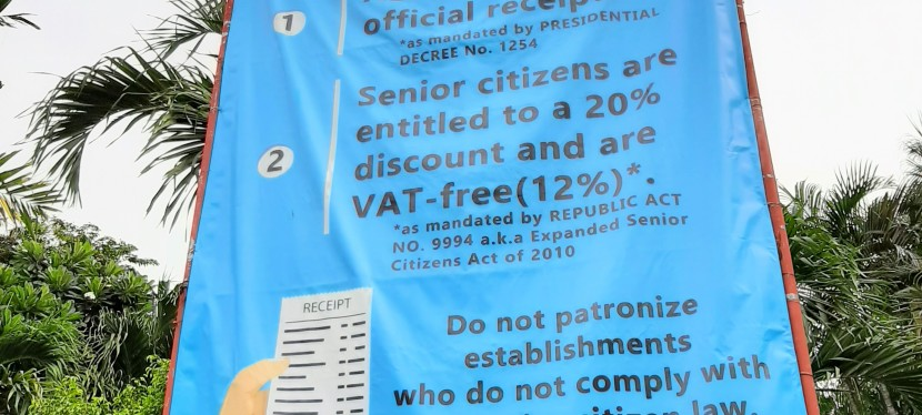 Senior Citizen Files Complaint Versus BF Homes Food Joint Over Refusal To Give Him Mandated 12% VAT Exemption (UPDATED: August 24, 2019)