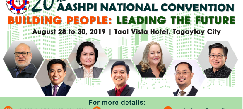 PRESS RELEASE: AASHPI 20th National Convention in Tagaytay City on August 28-30