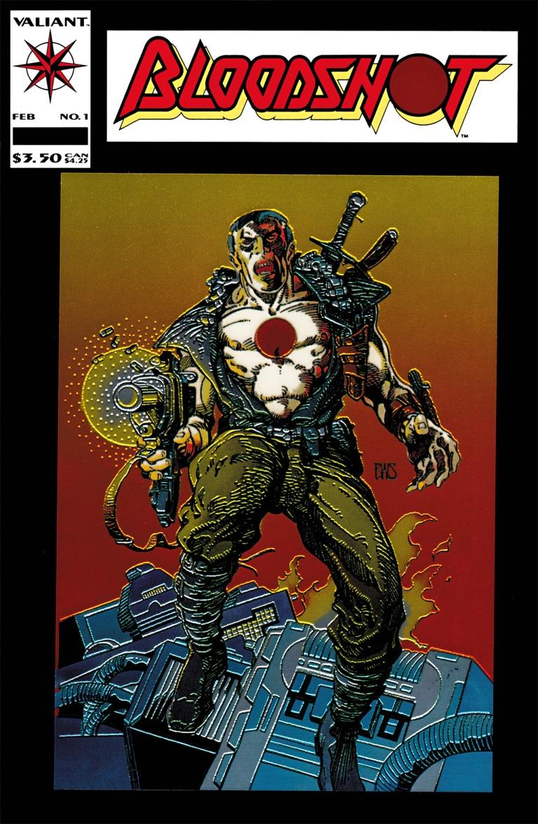 BLOODSHOT # 4 VALIANT Comics 1993 MOVIE COMING w VIN DIESEL HIGH GRADE
