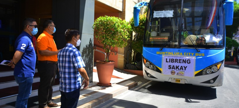 COVID-19 Crisis: Muntinlupa City deploys shuttle service for commuters amid public transportation restriction in GCQ