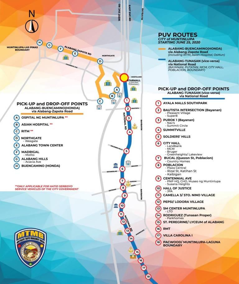 Designated PUV Stops