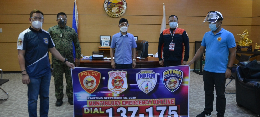 Muntinlupa City Hotline 137-175 for centralized quick emergency response officiallylaunched