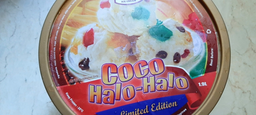 Gold Delight's Coco Halo-Halo ice cream
